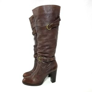 Boutique 9 Brown Leather Cluster Tall Riding Boots